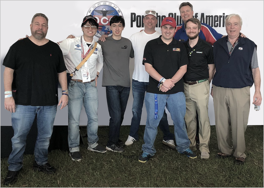 The PCA Sim Racing crew at the 2020 Rolex 24
