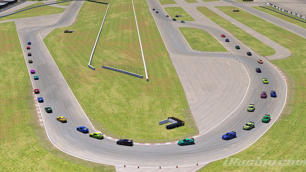 The Race 2 GTD2 large field of Cayman GT4s