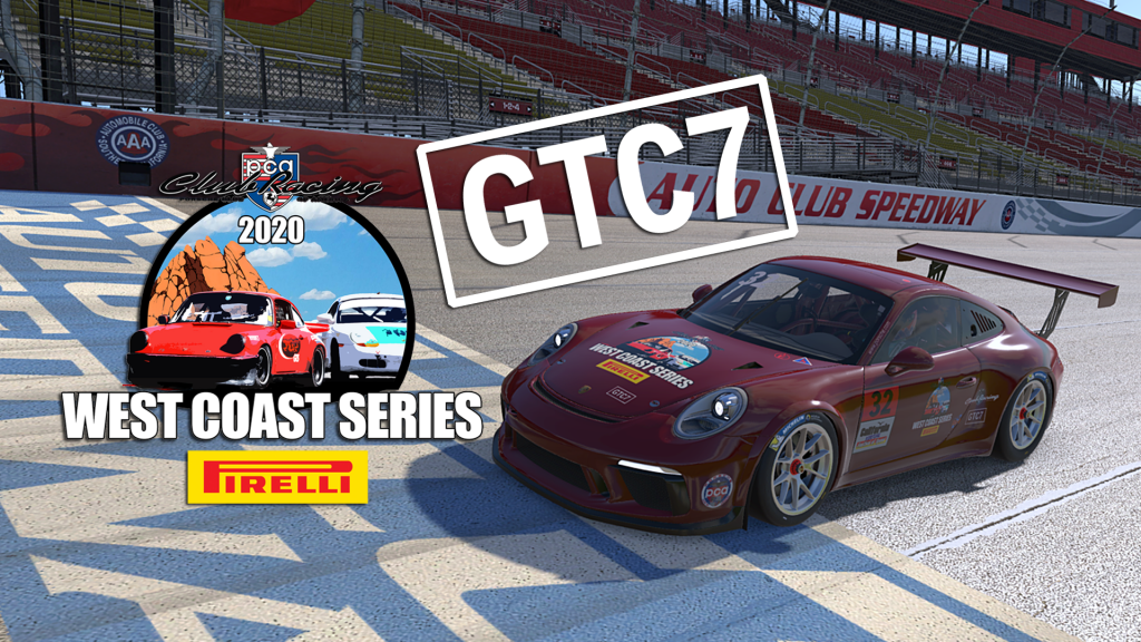 Race 3 for GTC7 was sponsored bythe Est Side Series and Pirelli