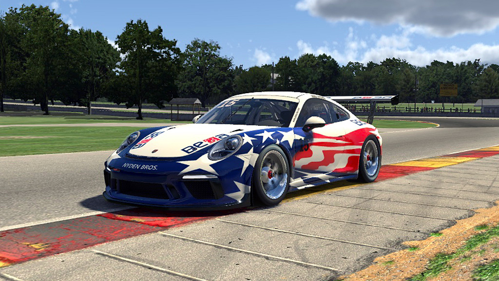 Mike Nyden in the Stars & Stripes GT3