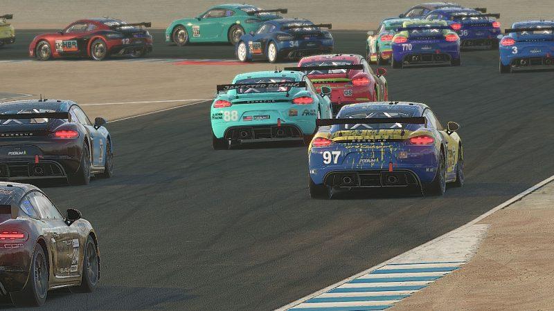 Opening lap at Laguna Seca