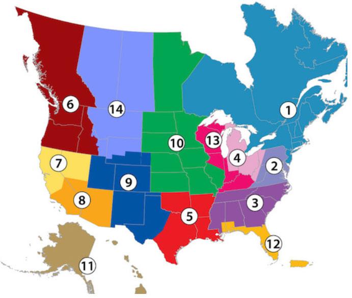PCA Zones