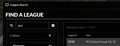 Search for League