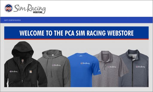 PCA Sim Racing webstore now open! Click the image.